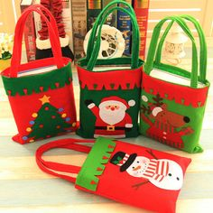 Christmas Snowman Trees Decorations Non-woven Fabrics Stotage Bags - Newchic