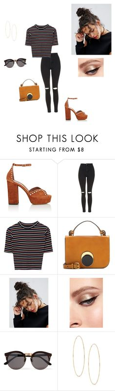 """Stripes"" by annexx00 ❤ liked on Polyvore featuring Tabitha Simmons, Topshop, Marni, ASOS, Illesteva, Lana, stripes and bag"