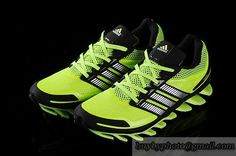 Men's Adidas Springblade 1 Running Shoes A  Fluorescent Green|only US$88.00 - follow me to pick up couopons.