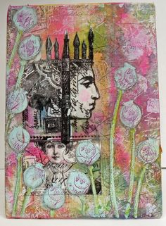 Canvas {with Lynne Perrella Stamps by Helen Chilton}