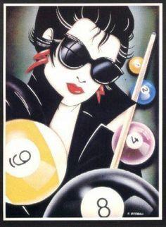 Garage Game Rooms, Wall Murals, Wall Art, Billiards Pool, Pin Up Art, Retro Art, Birthday Wishes, Libra Astrology, Job 1