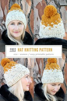 172ccf3249d Free hat knitting patterns - Hat pattern knit - Make a knitted hat this  winter with