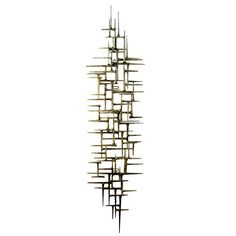 Original Gilded Modernist Wall Sculpture by American Artist Del Williams | From a unique collection of antique and modern wall-mounted sculptures at http://www.1stdibs.com/furniture/wall-decorations/wall-mounted-sculptures/