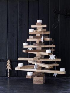 Houten Kerstboom   Wooden Christmas Tree #DIY