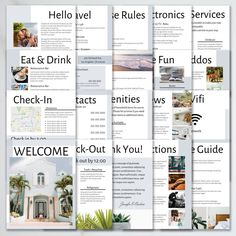 Airbnb Welcome Guest Book Template 20 Page Host Guidebook Airbnb House, Air Bnb, Air B And B, How To Eat Better, Guide Book, Villa, Beach House Rentals, Cabin Rentals, Templates