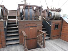 old ship deck leading to cabin - Google Search
