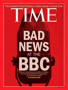 Revista Time (EEUU) - 26 de noviembre de 2012 (Edición Europa, Medio este, Asia, África y Pacífico Sur). Tras el escándalo derivado de la emisión del programa Newsnight, el viernes 2 de noviembre, donde se acusaba erróneamente de pedofilia a un político, y las acusaciones de múltiples abusos sexuales contra su ex presentador estrella Jimmy Savile, fallecido en 2011 ¿podrá la BBC, salvarse de sí misma? http://www.time.com/time/magazine/article/0,9171,2129431,00.html