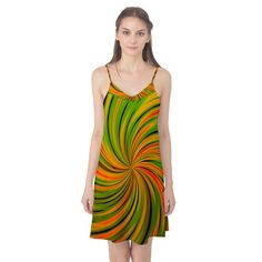Happy Green Orange Camis Nightgown Camis Nightgown