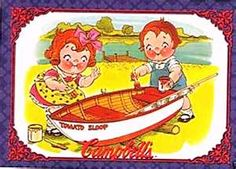 Campbells Soup Campbell kids fixing boat