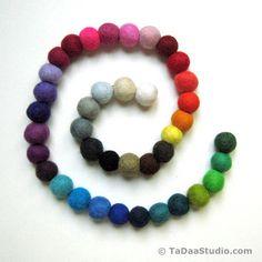 2cm Wool Felt Ball Chain