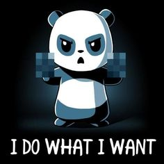 Get comfortable in hundreds of cute, funny, and nerdy t-shirts. TeeTurtle has the perfect super soft shirt to make you smile! Niedlicher Panda, Panda Art, Panda Love, Panda Wallpapers, Cute Wallpapers, Cute Animal Drawings, Cute Drawings, Anime Animals, Cute Animals
