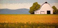 """Jeffery  Pugh - """"Summer House"""" Oil 12 x 24 in"""