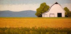 "Jeffery  Pugh - ""Summer House"" Oil 12 x 24 in"