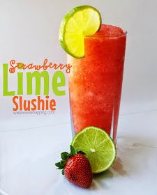 Sonic-inspired DIY strawberry lime slushie. A great summer treat right at home. Now, it's always happy hour.