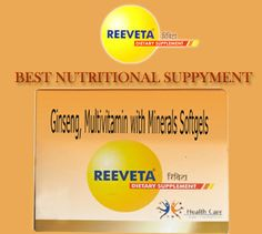 reeveta's insight: Taking Nutritional supplements has become a common trend in today's hectic life style. In this competitive world where life has become hectic and fast one has to be fit and energetic every time and you cannot afford to be lethargic Read More:-http://goo.gl/zmvXF8