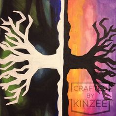 Tree of Life, double tree painting