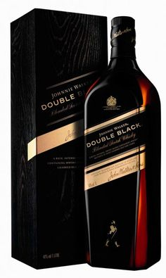 Johnnie Walker Double Black ( Non Refillable) Cigars And Whiskey, Scotch Whiskey, Whiskey Bottle, Liquor Bottles, Drink Bottles, Cocktails, Alcoholic Drinks, Johnnie Walker Whisky, Hard Drinks