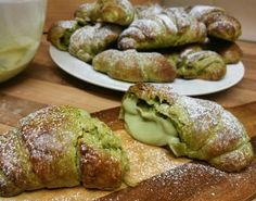 Creamy matcha custard filled in matcha croissant add the extra matcha flavor to satisfy your matcha craving