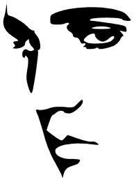 Elvis Face Wall Art Sticker Decal Stables RIP Fan Pop Art Present Gift B & W NEW | eBay