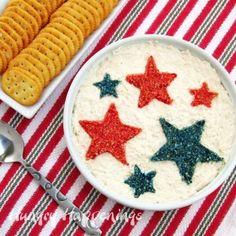 How to turn a plain dip into a patriotic appetizer for the 4th of July - Hungry Happenings - LoveItSoMuch.com