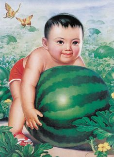 """"""" In the beginning of communism in China, population control through art and propaganda became a theme within the nation's history. Pictured often contain propaganda, one baby, doing some sort. Chinese Propaganda Posters, Chinese Posters, Propaganda Art, Chinese Culture, Chinese Art, Vintage China, Vintage Art, Illustrations, Illustration Art"""