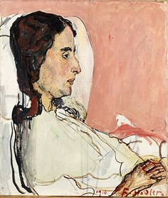 "Ferdinand Hodler, ""The Sick Valentine Godé-Darel"" (1914).  Art Experience:NYC  http://www.artexperiencenyc.com/social_login"
