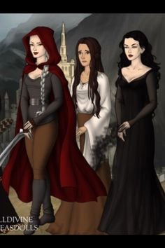 Witch, maid and lady in Morath. (Manon, Elide & Kaltain)
