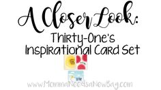 A Closer Look: Thirty One's Inspirational Card Set Visit www.MommaNeedsaNewBag.com to shop