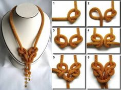 clear photos of how to tie knots in bead crochet ropes