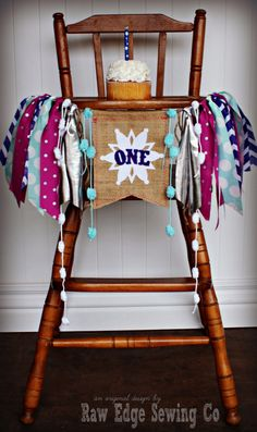 WINTER WONDERLAND Birthday Age High Chair Highchair Birthday Banner/Party/Photo Prop/Bunting/Backdrop/Chair Banner/Frozen/Cake Smash/Magenta