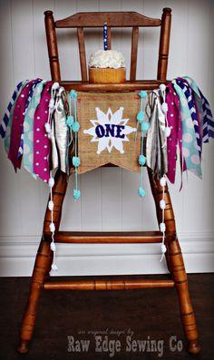 WINTER WONDERLAND Birthday Age High Chair Highchair Birthday Banner/Party/Photo Prop/Bunting/Backdrop/Chair Banner/Frozen/Cake Smash/Magenta