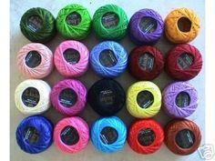 20 Pearl Cotton 8 Crochet Thread 85 Meters Each by Anchor Crochet Thread Patterns, Crochet Thread Size 10, Knitting Patterns, Bamboo Knitting Needles, Knitting Needle Sets, Cotton Crochet, Knit Crochet, Crochet Flip Flops, Mercerized Cotton Yarn