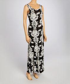 7b18fdfe6c6 Anticipation Black   Ivory Damask Maternity Maxi Dress - Women. Plus Size  PregnancyMaternity MaxiIvoryFabricFormal DressesBlackClothesDamaskFashion