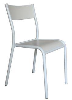 Chaise empilable 510 Originale / Assise bois - Réédition 1947 Blanc / Structure blanche - Label Edition - Décoration et mobilier design avec Made in Design