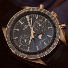 The new Omega Speedmaster Master Chronometer Chronograph Moonphase for #SpeedyTuesday | #Omega #BaselWorld2016 #SwissWatches by swisswatches