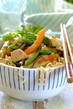 Tuna Thai Curry: A creamy coconut curry loaded with fresh vegetables! #easy #dinner #recipes