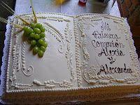 pasteles de primera comunion en forma de libro