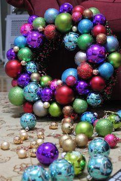 Clearance Christmas Bauble Wreath