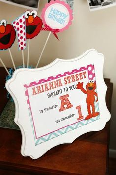 Hostess with the Mostess® - Pink and Aqua Blue Elmo Themed First Birthday Party
