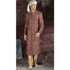 Silk Jamewar Fabrics Royal Look #Sherwani$405.00