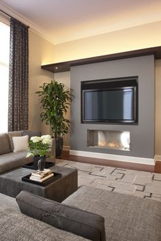 Orchard Family Room B - contemporary - family room - chicago - Michael Abrams Limited