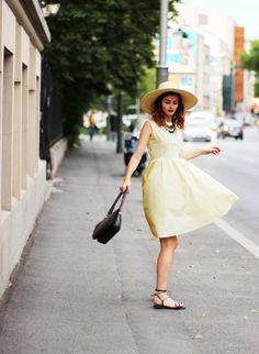 Vintage 60's preppy dress Yellow dress Great by selenefashion