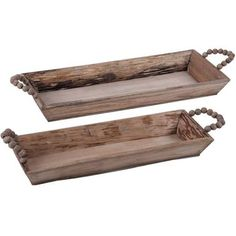 Set out rolls or chips in these rustic trays, or use them to pile up plasticware or napkins for buffet service.