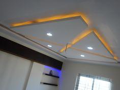 Ceiling Interior Design Ideas Pop False Ceiling Design, Ceiling Light Design, Ceiling Ideas, Ceiling Decor, Lighting Design, Ceiling Lights, Pop Design, Design Ideas, Tv Cabinet Design