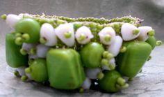 Pretty Boho 'Lime-Green' Beaded Chunky by TheAtticofKitsch on Etsy