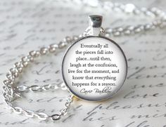 Sex And The City Necklace, Carrie Bradshaw Quote Pendant, TV Show Jewelry on Etsy, $12.95