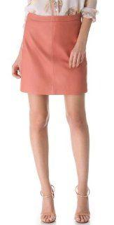 Salmonl Leather Skirt.