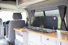 Are you looking for a campervan conversion but would like the glamping experience? Take a look at our glamping campervan conversions & see if its for you. Vw Transporter Camper, Vw Camper, Campers, Mercedes Benz Vans, Cupboard Lights, Campervan Interior, Roof Light, Camper Conversion, Land Rover Defender