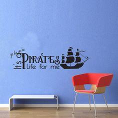 Vinyl Wall Decal Sticker Art - Pirates Life - Wall Mural - Medium. $17.95, via Etsy.