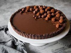 Chocolate & Cardamom Ganache Tart (low-carb, keto, primal)